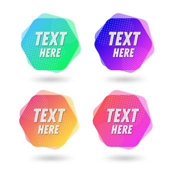 Colorful abstract shapes for text template
