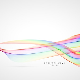 Colorful abstract smooth wave background