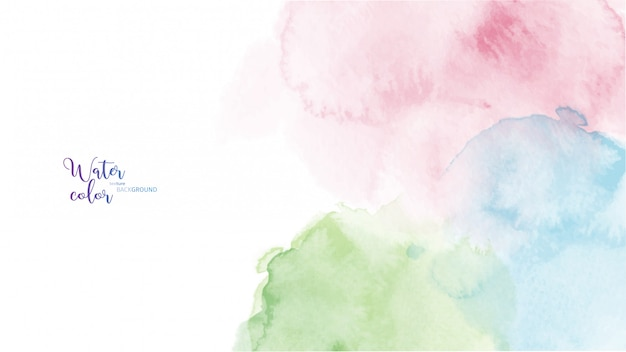 Colorful abstract stain watercolor background