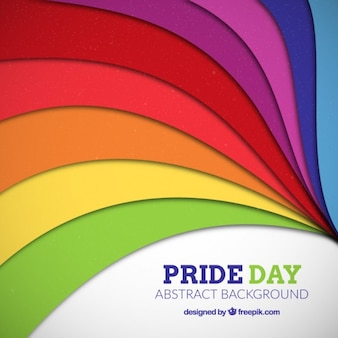 Colorful abstract stripes pride day background