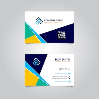 Colorful abstract stylish business card design