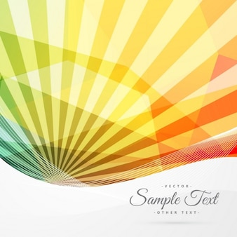Colorful abstract sunburst background