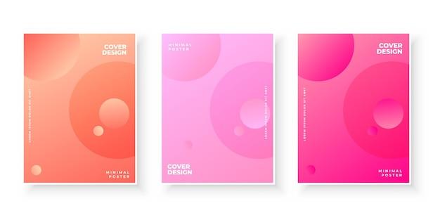 カバーデザインのグラデーションとカラフルな抽象的なテンプレート