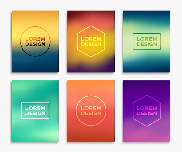 Colorful abstract templates