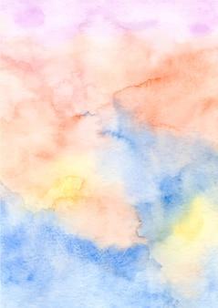 수채화와 다채로운 추상 질감 배경