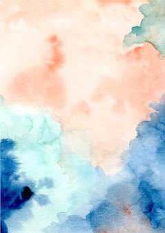 수채화와 다채로운 추상적인 질감 배경