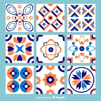 Colorful abstract tile pack