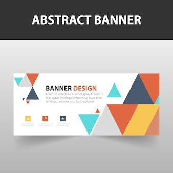 Colorful abstract triangle banner