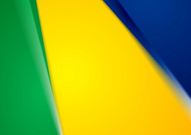 Красочный абстрактный фон вектор в бразильских цветах