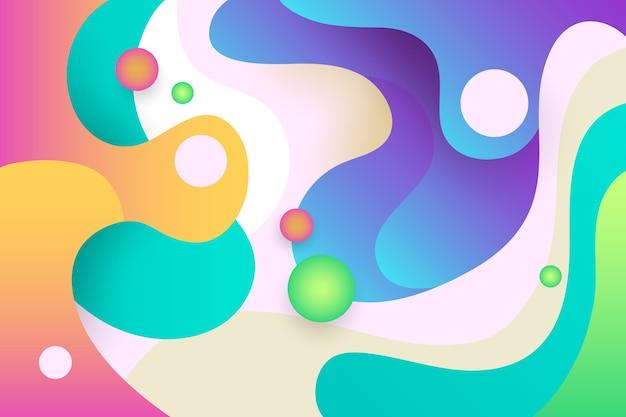 カラフルな抽象的な壁紙のコンセプト