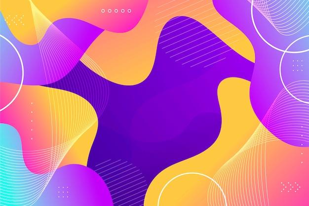 다채로운 추상적 인 벽지 스타일