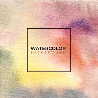 カラフルな抽象的な水彩背景、紙の上にはねかける色