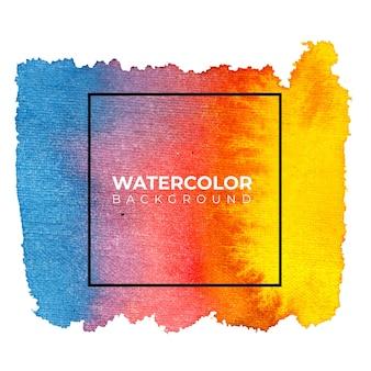 カラフルな抽象的な水彩画の背景、ハンドペイント。紙の上にはねかける色。