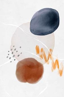 カラフルな抽象的な水彩サークルデザインベクトル