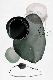 カラフルな抽象的な水彩画の円のデザイン