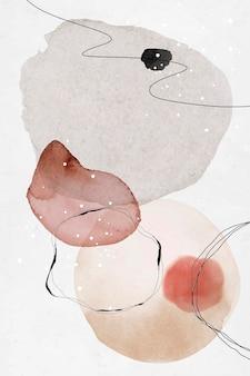 Красочный абстрактный акварельный дизайн кругов