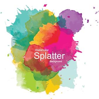 Красочный абстрактный акварельный фон spash