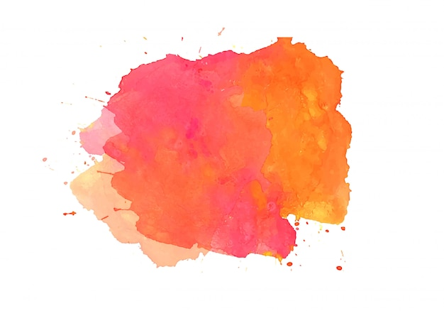 Colorful abstract watercolor stain