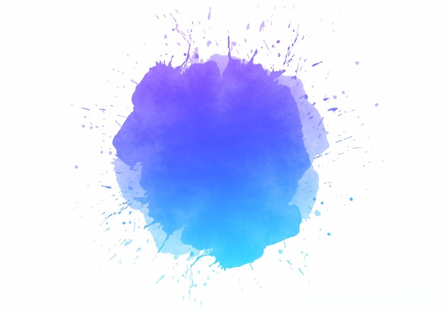 Красочное абстрактное акварельное пятно