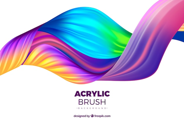 Colorful abstract waves background