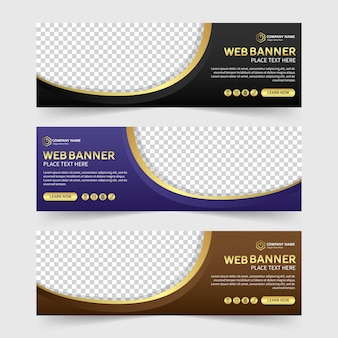 Colorful abstract web banner template