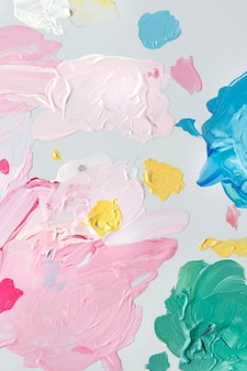 Colorful acrylic brush strokes vector