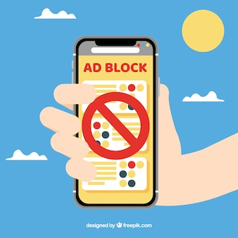 Colorful ad block concept with flat design