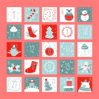 Красочный календарь появления в плоском дизайне