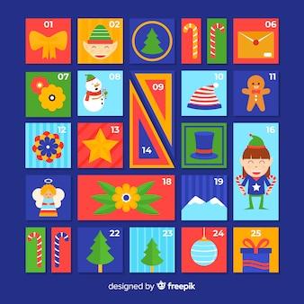 Colorful advent calendar