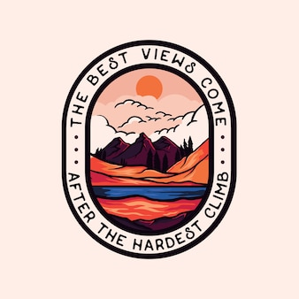 Colorful adventure badge logo