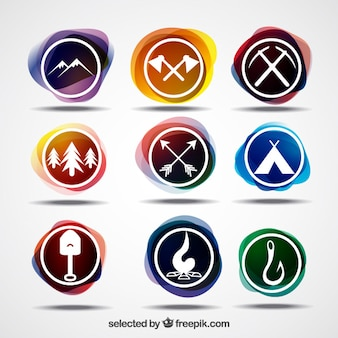 Colorful adventure logos