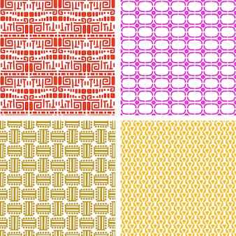 Colorful african ethnic pattern set