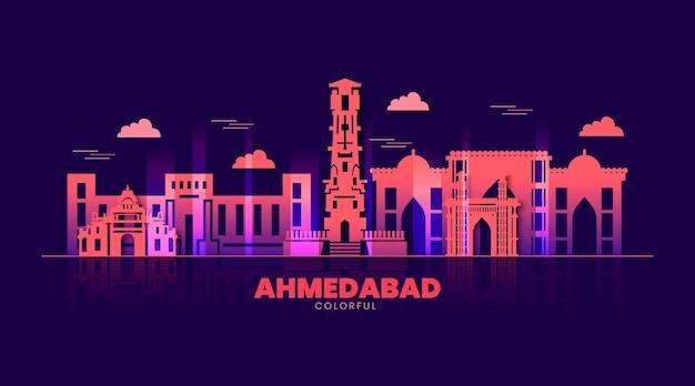 Красочный горизонт ахмедабада
