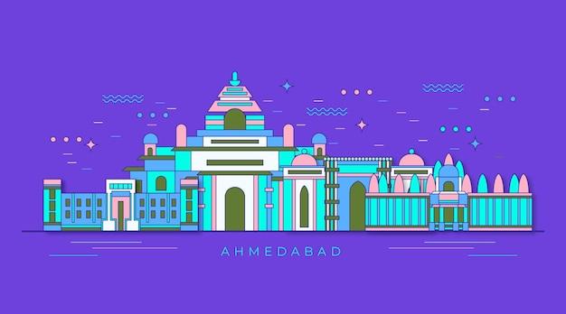 화려한 ahmedabad 스카이 라인