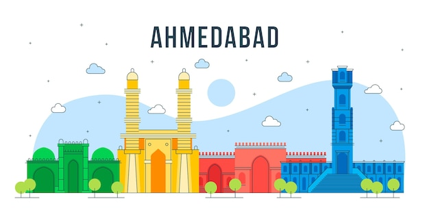 Красочный горизонт ахмадабада