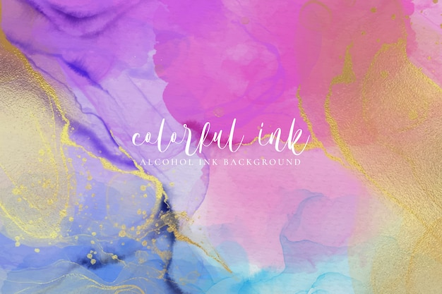 Colorful alcohol ink background