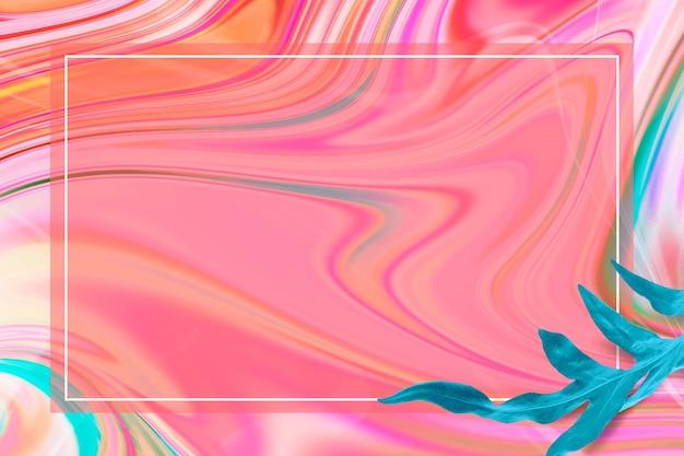 Cornice colorata con inchiostro alcolico con foglia