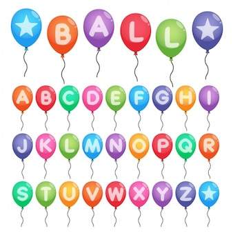 Colorful alphabet in balloons
