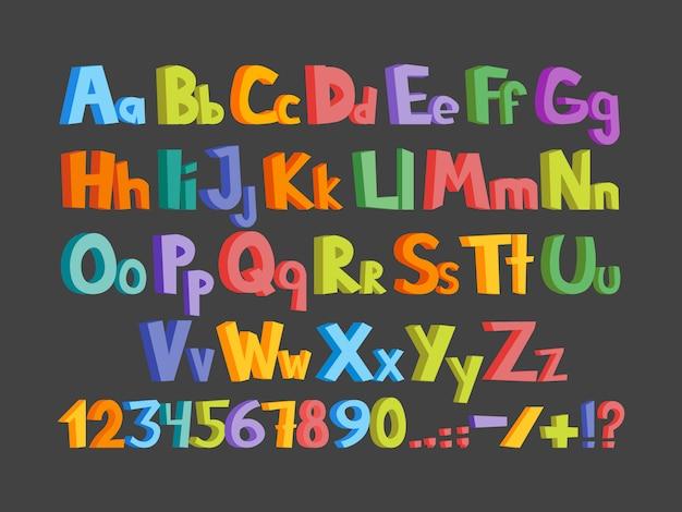 The colorful alphabet illustration
