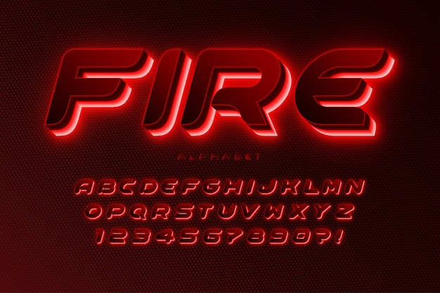 Colorful alphabet with logo design