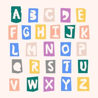 Alfabeto colorato