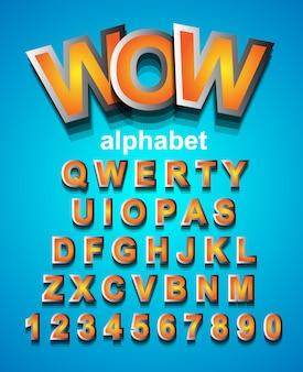 어린이 파티 초대장에 사용할 다채로운 alphapet 글꼴