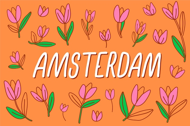 Colorful amsterdam city lettering