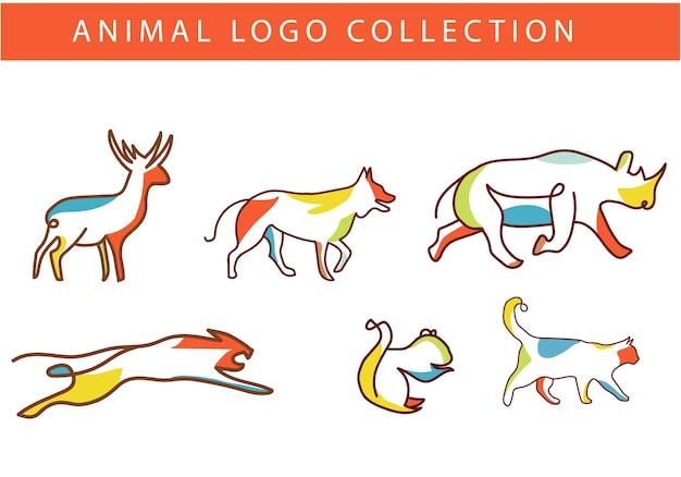 Красочный логотип животных