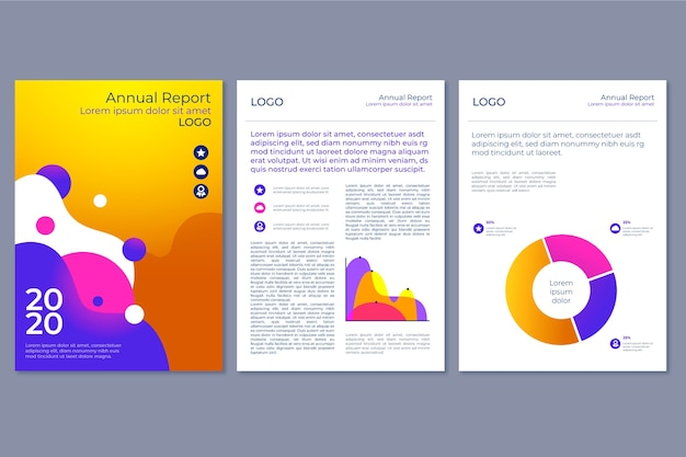 Colorful annual report template theme