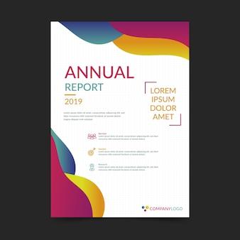 Modello colorato rapporto annuale