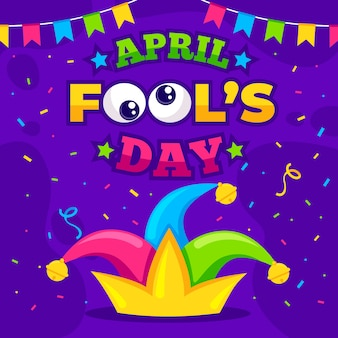 Colorful april fools day background