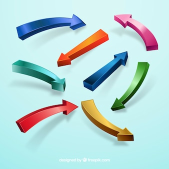 Colorful arrow collection with modern style