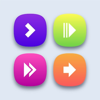 Colorful arrow icons set