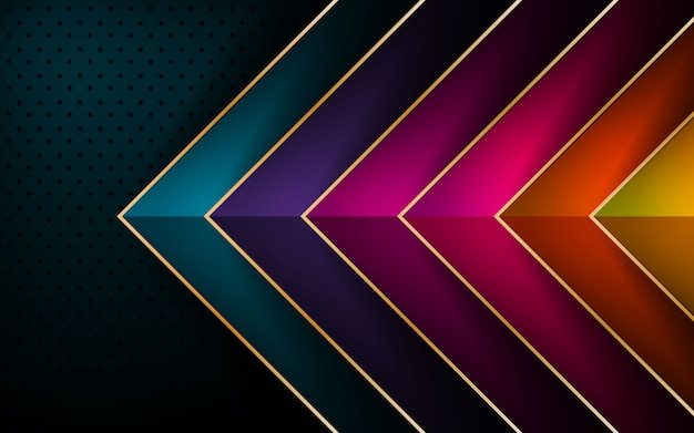 Colorful arrow vector overlap layer background